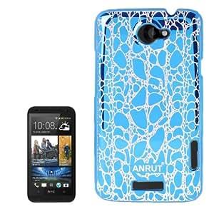 Anrut Stone Pattern Plastic Case for HTC One X / S720e (Blue)