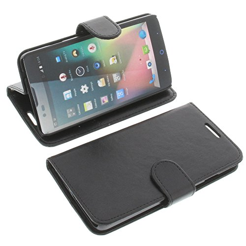 foto-kontor Tasche für ZTE Blade L3 Plus Book Style Schwarz Kreditkarte Schutz Hülle Buch