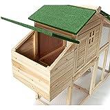 IDMarket - Poulailler Comfort avec pondoir en bois