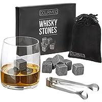 GOURMEO Whisky Steine aus natürlichen Speckstein I wiederverwendbare Eiswürfel, Whiskysteine, Whisky Stones, Kühlsteine, (9 Stück)
