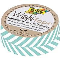 Folia 26067Washi Tape, Strisce Turchese, circa 10m X 15mm