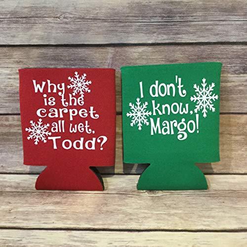 Weihnachtsurlaub für Sie und Ihn, lustiger Todd Margo Griswold National Lampoon Xmas Can Cooler Getränkehalter Getränkehalter Getränkehalter Rot Grün Weiß