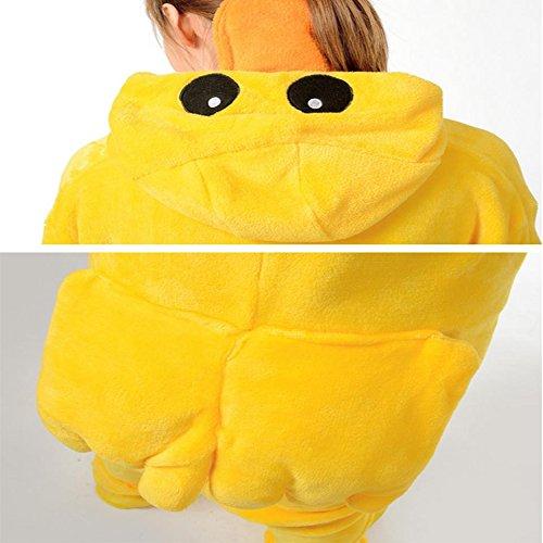 DMMSS Adulte Flanelle Neutre Pièce Pyjama Couple De Service À Domicile Rôle - En Jouant Des Vêtements De Nuit Yellow