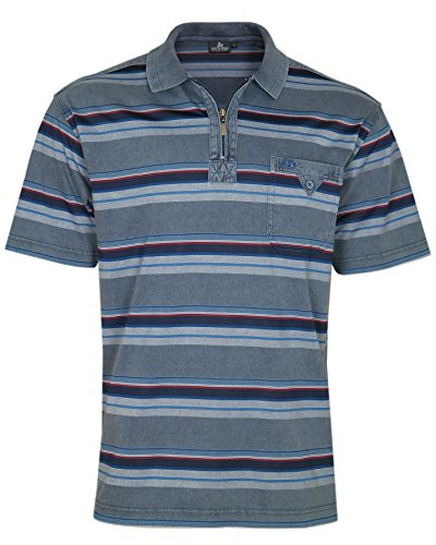 REALLY POINT Premium Poloshirts IM Ringellook Navy
