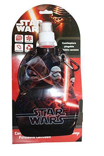 Disney SWE70244 Star Wars Kinder Trinkflasche Sportflasche Flasche 500 ml faltbar