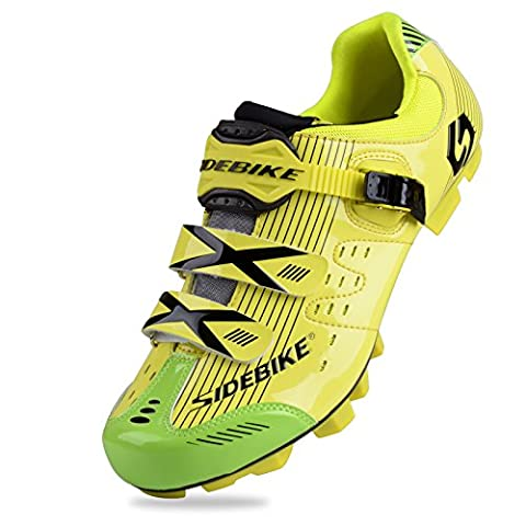 WIN Mens Breathable Casual Cycling Shoes with Carbon Soles or Nylon Tpu Soles for Road and MTB (Yellow for MTB, UK