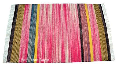 Handgefertigter Bazarr Traditioneller Teppich, 7,6 x 152,4 cm, gestreifte Linien, handgewebter Bodenläufer, traditioneller Wolle, Dekor-Teppich, Vintage-Teppich, Heimbereich -