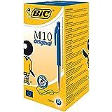 BIC M10 Original Stylos-Bille Rétractables Pointe Moyenne (1,0 mm) - Bleu, Boîte de 50