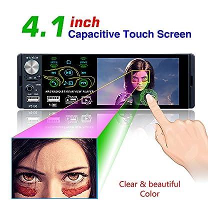 Bosszi-2019-Neu-entwickelter-41-Zoll-1080P-Touchscreen-Bluetooth-Autoradioempfnger-FMAMRDS-Radio-fr-das-Auto-und-MP5-MP3-Player-untersttzt-USBTFAUX-Eingang-Infrarot-Fernbedienung