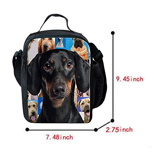 ... Meijunter Cute Dogs Pattern All aperto Refrigeratore Termico Insulated  Travel Scuola Picnic Borsa per il b0872d778a56d