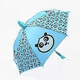 SUP-MANg Ultraleichter Sonnenschutz UV-Regenschirm, halbautomatischer Kinderschalter Winddichter Regenschirm Blau
