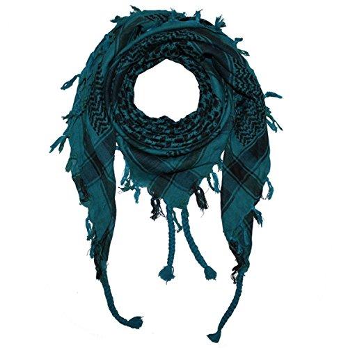 Freak Scene Superfreak® Pañuelo pali de dos colores clásico°chal PLO°100x100 cm°Pañuelo palestino Arafat°100% algodón – petróleo/negro