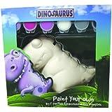 Dinosaurus Big T - Hucha para pintar, diseño de dinosaurio, color rosa