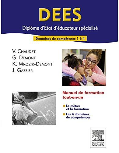 DEES - Diplôme d'Etat d'éducateur spécialisé: Domaines de compétences 1 à 4