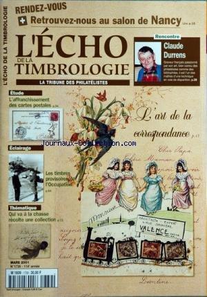 echo-de-la-timbrologie-l-39-no-1739-du-31-03-2001