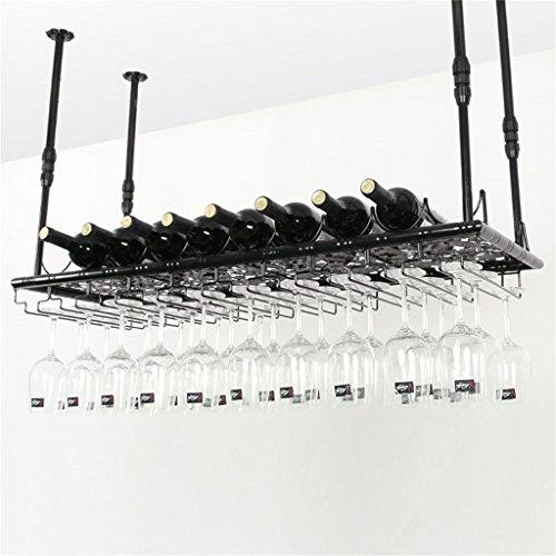 Etagère à bouteille Montage mural en métal étagères porte-bouteilles style européen modèle plafond suspendu porte-bouteille de vin en fer vin verre unité de stockage flottant étagères