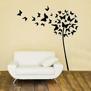 Adesivo murale wall art soffione di farfalle misure for Adesivi per pareti