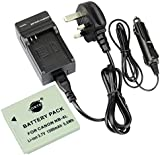 DSTE® NB-4L Rechargeable Li-ion Battery + DC22U Travel and Car Charger Adapter for Canon PowerShot SD40 SD30 SD200 SD300 SD400 SD430 SD450 SD600 SD630 SD750 SD780 SD1100 IS SD940 SD960 SD1000 SD1100 SD1400 TX1 ELPH 100 HS 300 310 330 VIXIA mini IXUS 40 30 50 55 60 65 70 75 80 90 i5 i7 izoom S5 WA60 TX1 DS4 IS 110 IS 100 IS Camera
