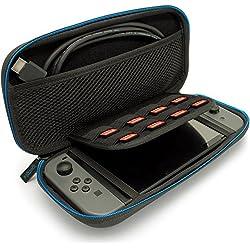 igadgitz U6755 Sottile EVA Borsa Custodia Rigida da Viaggio per Console Nintendo Switch Giochi e Accessori Case Cover – Nero