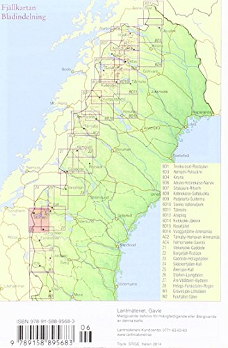 Fjällkartan 1 : 100 000 Z6 Storlien - Ljungdalen Bergwanderkarte: Alle Infos bei Amazon