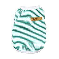 Personalised Fashion Cute Pet Clothing ! sunnymi® Summer Pet Dog Puppy Classic Vest T-shirt Dog Clothes Striped Vest Apparel