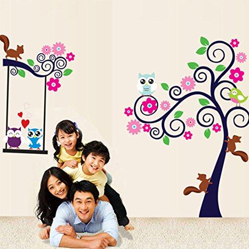 colorful-fleurs-arbres-hiboux-ecureuil-papier-maison-autocollant-mural-amovible-cuisine-salon-salle-