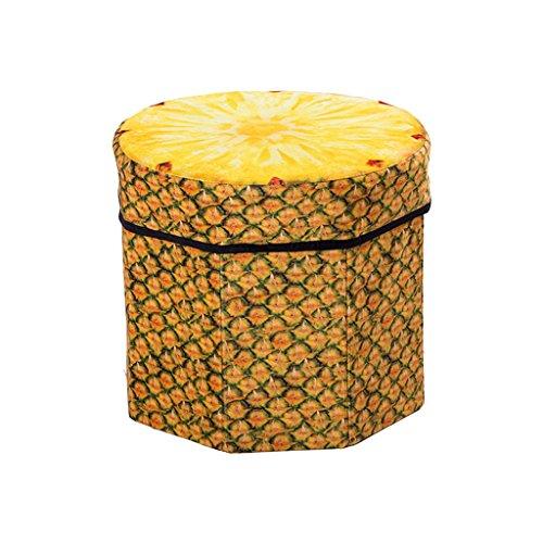 DWW-Panier de rangement Tabouret de fruits de bande dessinée créative pliant boîte de rangement de jouet grand tabouret de stockage maison pratique ( Couleur : C )