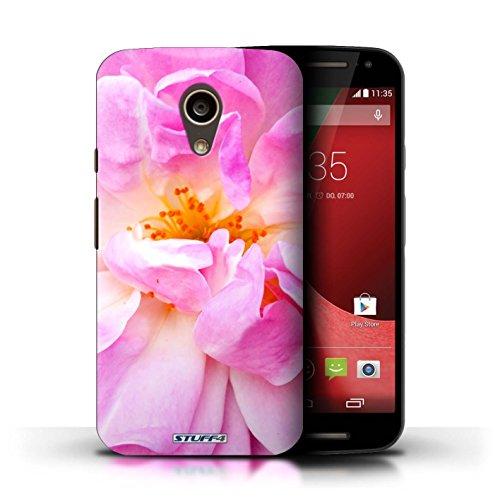 Kobalt® Imprimé Etui / Coque pour Motorola Moto G (2014) / Portulaca conception / Série floral Fleurs Portulaca