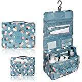 Blue Flowers : Portable Waterproof Travel Cosmetic Bag - Lady Color Portable Travel Makeup Kit Organizer Bathroom...