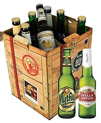 Geschenke für Männer BIER AUS ALLER WELT Geschenkbox + gratis Geschenk Karten + Bierbewertungsbogen. Bier Geschenke aus Österreich + Mexiko + Schweden + Lech + Grolsch + Quilmes +  Bier Geschenke für Männer. Besser als Bier selber machen oder selbst brauen: Geburtstagsgeschenke Geburtstagsbier geburtstagsgeschenk für mama geschenk geschenkefinder geschenk geschenke zum vatertag biergeschenke biersorten aus aller welt