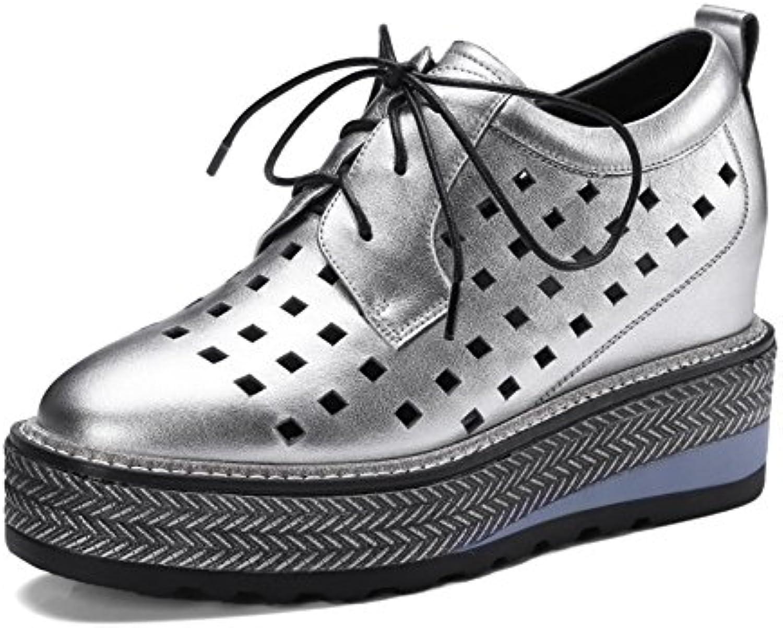 Zapatos de Mujer Primavera y Verano Nuevos Four Seasons Zapatos con Agujeros Ocasionales Dentro de Heighten Tie...
