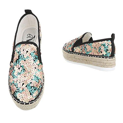 Italiano Negro Sapatos Moderno top Baixo Femininos Sapatos Ouro Baixos Design Chinelo CpxOqanwX
