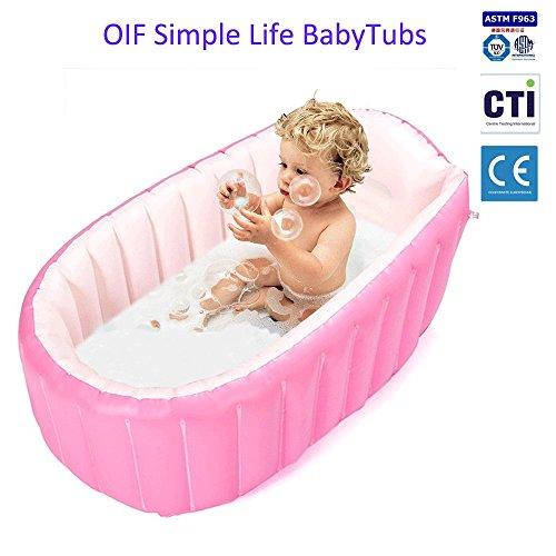 gonflable Baignoire bébé, connecteurs Portable Kid Infant Toddler épais doux Coussin d'air piscine central Assise