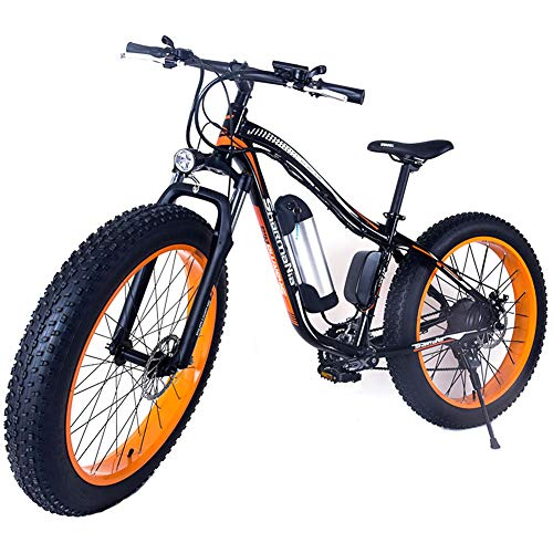 """LHLCG Bicicletta elettrica - Bicicletta da Montagna Pieghevole da Bici da 26\""""da Neve"""
