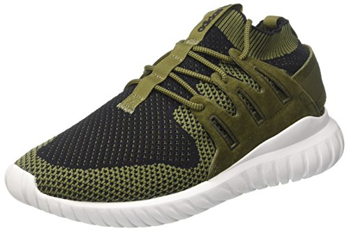 adidas Tubular Nova Primeknit Black Dark Grey White green