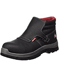 Lico Security Low 750002 - Zapatos de ante para hombre, color negro, talla 41