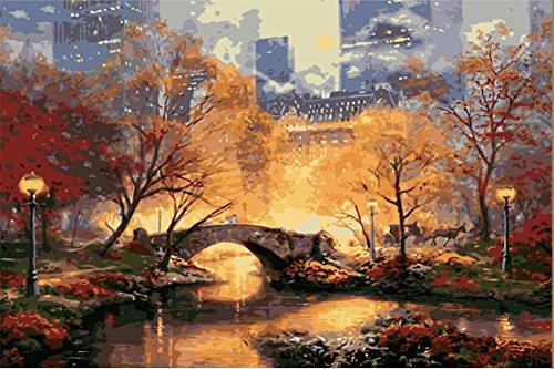 ahlen Kit für Erwachsene Anfänger 40,6x 50,8cm-Manhattan Park, Zeichnen mit Pinsel Weihnachten Decor Dekorationen Geschenke Frame ()