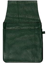 Gastro Kellnertaschenhalfter mit Kettenschlaufe, 103590 049, Damen und Herren Kellnerbörsenhalfter, Leder, grün