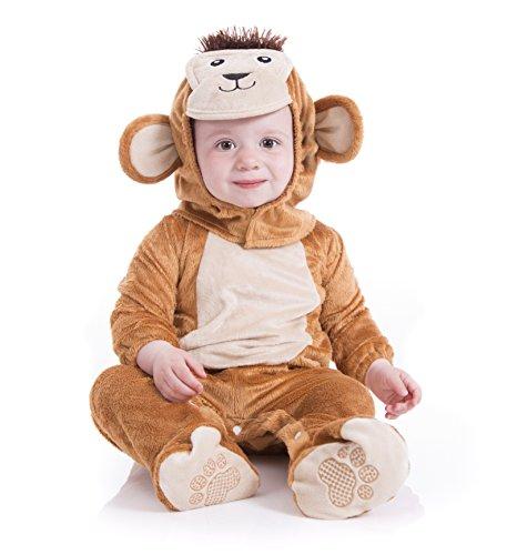 Kostüme 21 (Deluxe Plüsch Cheeky Monkey Tierbaby-Kostüm (Alter 18-24)