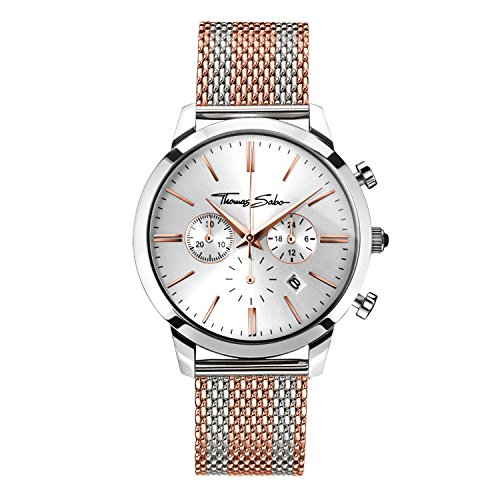 Thomas Sabo Men's Watch Rebel Spirit Chrono Rose Gold Silver Analogue Quartz