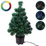 Weihnachtsbaum 65cm hoch Farbwechselspiel - 9 verschiedene Lichteffekte -Christbaum Weihnachtsdeko Tannenbaum Mini Tischbaum