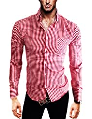 "Kayhan Hombre Camisa Slim Fit Modello ""K-6000"""
