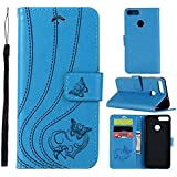 Huawei Enjoy 7S Card Holder Case, Huawei Enjoy 7S Wallet Case Slim, Huawei Enjoy 7S Folio Leather Case Cover Shockproof Case With Credit Card Slot, Durable Protective Case Compatible With