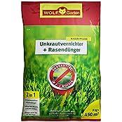 Wolf-Garten SQ450 2in1 Unkrautvernichter plus Rasendünger, 9.00kg (3840745)