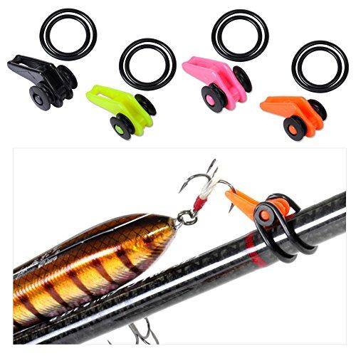 Mix Farbe: Hot besten Preis 5Sets/15Stück Fliegenrute einfach Keeper Halter Angel Haken Keeper Kunststoff schwarz orange