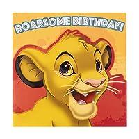 Lion King Birthday Card for Kids from Hallmark - Die-Cut Simba Design
