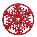 Laileya 8pcs Natale Forma Atmosfera Neve Tessuto Non Tessuto in Feltro stuoia della Tazza del sottobicchiere della Decorazione della Tabella