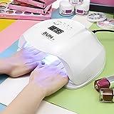 LED UV Lampe für Nägel 54W, PAVLIT SUN LED-Nageltrockner intelligenter Lampenfunktion LED mit 36 Perlen für Shellac und Gelnagellack Lichthärtegerät mit automatische Sensor - Weiß (Weiß) (Weiß)