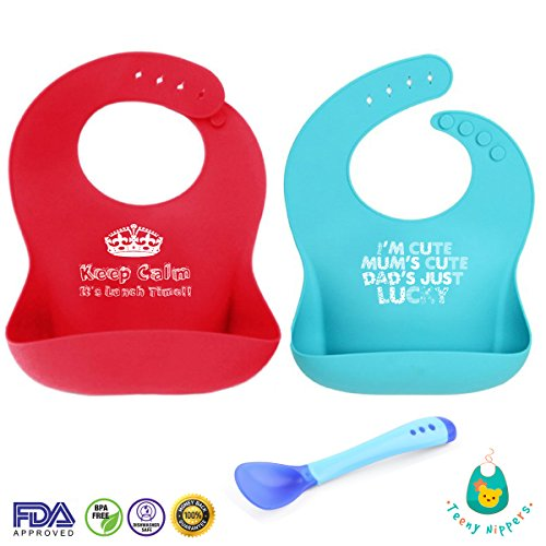 teeny-nippers-fun-quirky-premium-bib-set-adjustable-easy-to-clean-made-with-food-grade-silicone-pouc