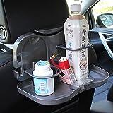 Raiphy Auto-Klapptisch Tablett mit Flaschenhalterung Auto Rücksitz Veranstalter Reise Aktivität Essen Tablett Ausklappbarer Tisch-2